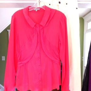 Chris Benz silk blouse sz 8